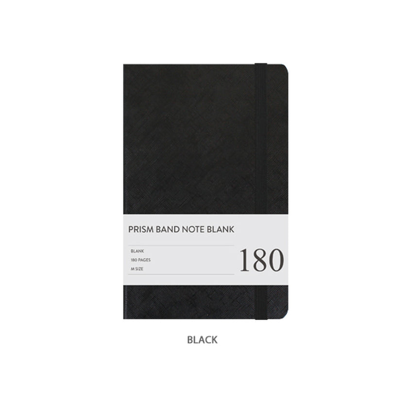 Prism Band Notebook Blank Black