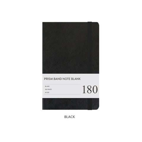 Indigo Prism Band Notebook Blank Black