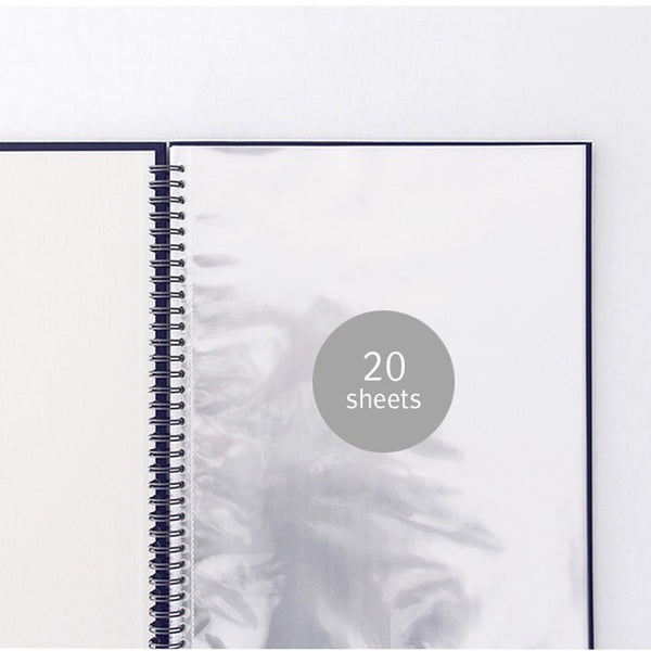 Indigo Prism A4 Size Clear Pockets Document File Holder Navy