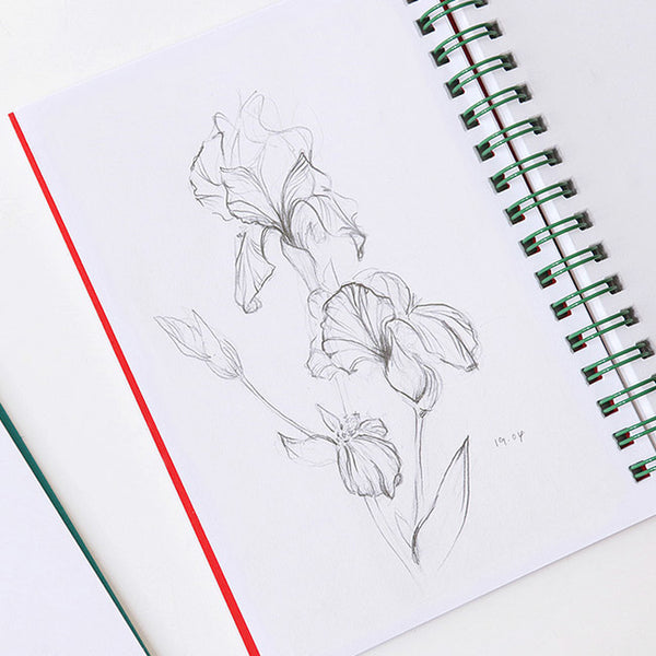 Indigo Prism Spring Note 160S Red (Sketch Book) * Free birth flower sticker for purchase of 3 prism spring note 160s, mix and match*