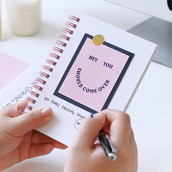 Indigo Prism Spring Note 160S Pink (Sketch Book) * Free birth flower sticker for purchase of 3 prism spring note 160s, mix and match*