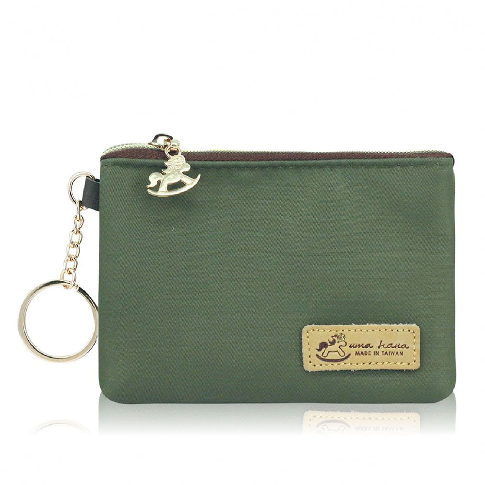Single Zipper Coin Pouch S Premium Khaki