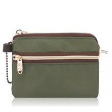 Load image into Gallery viewer, Double Zipper Coin Purse S Premium Khaki