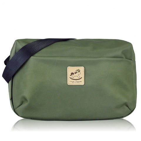 * Website Exclusive * Uma hana Premium Monochrome Ship Type Shoulder Bag Khaki