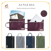 Load image into Gallery viewer, A4 File Bag Premium Grey