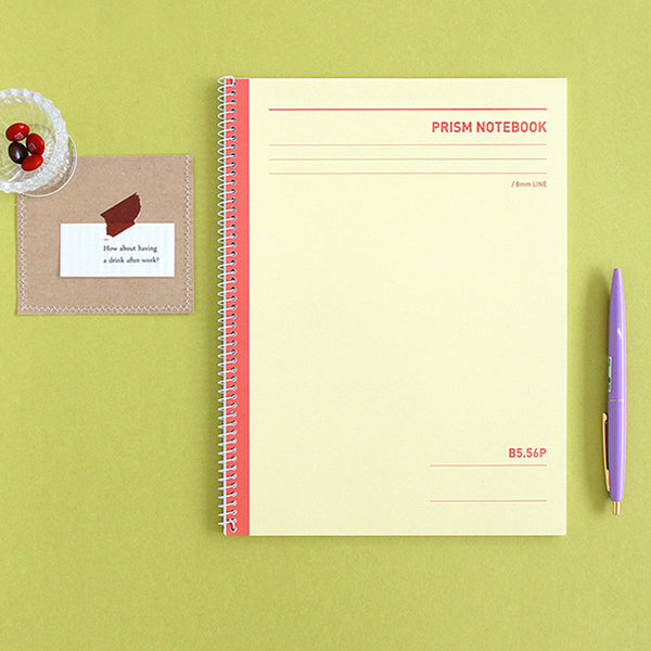Indigo Prism 56 Spring Notebook B5 Line Yellow