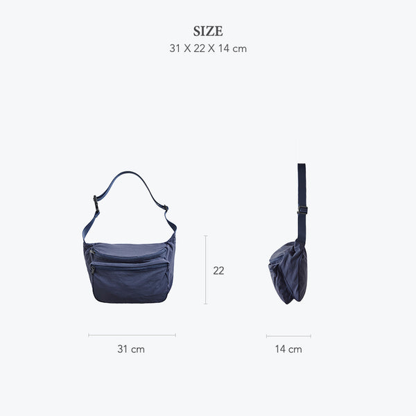 ITHINKSO Matt Cross X Shoulder Bag Navy