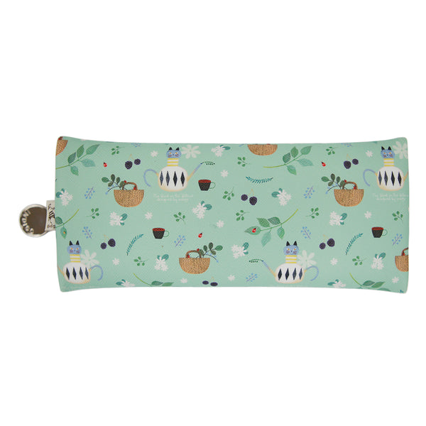 Indigo Willow V.4 Zipper Pencil Case Mint Tea