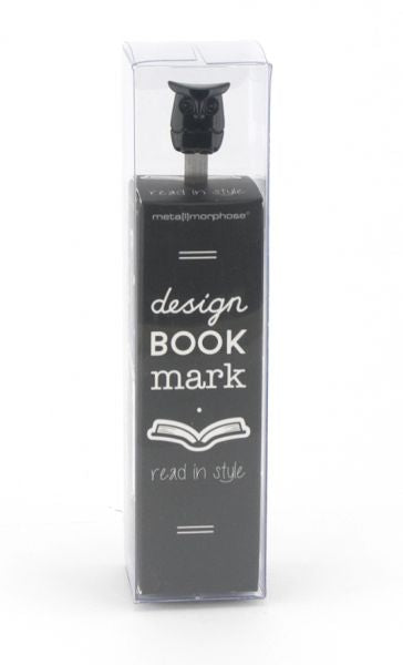 Metalmorphose Bookmark Wise Owl Black