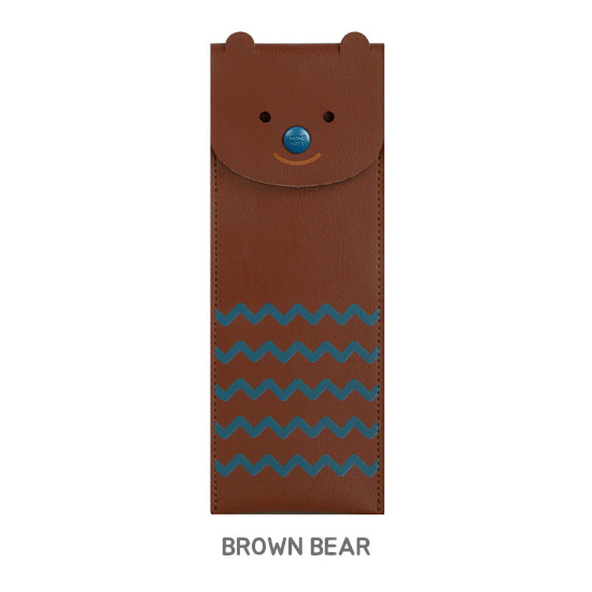 Monopoly Toffeenut Pen Case ( Elastic Band) Brown Bear