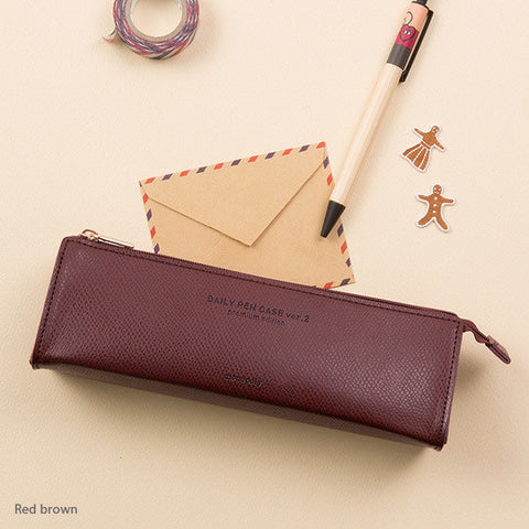 Monopoly Daily Pencil Case Ver.2 Red Brown