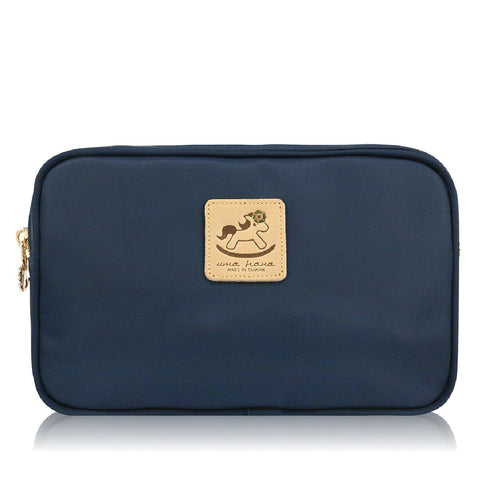Uma hana Premium Monochrome Rectangular Shoulder Bag Navy