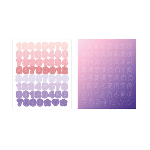 Indigo Gi-bon Sticker Number Pink and Purple