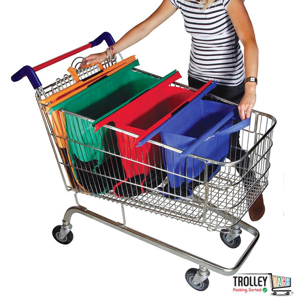 Reusable Grocery Shopping Trolley Bags Original (Set of 4 Bags) Vibe