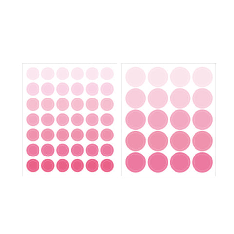 Indigo Gi-bon Sticker 1700 Circle Pink