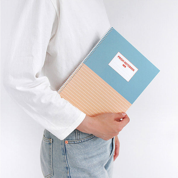 Indigo Prism 56 Spring Notebook B5 Grid Navy