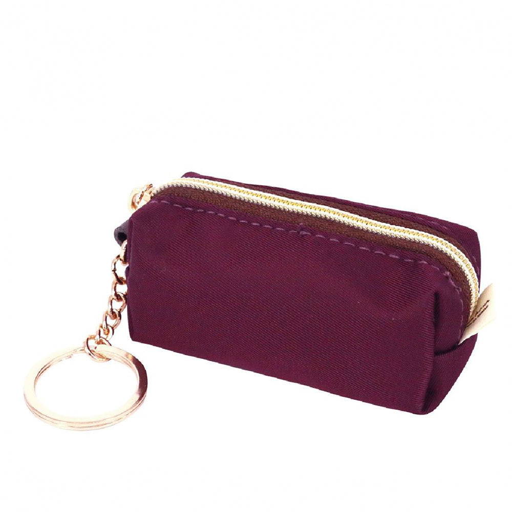 Uma hana Premium Monochrome Lipstick Coin Purse with Key Ring Purple  ( Buy 4 Free 1)