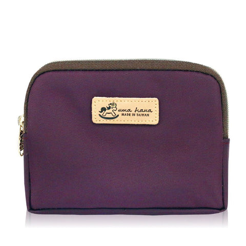 Uma hana Premium Monochrome Cube Coin Purse Purple