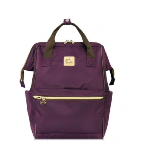 Uma hana Large Frame Backpack ( Large Opening Backpack) Purple