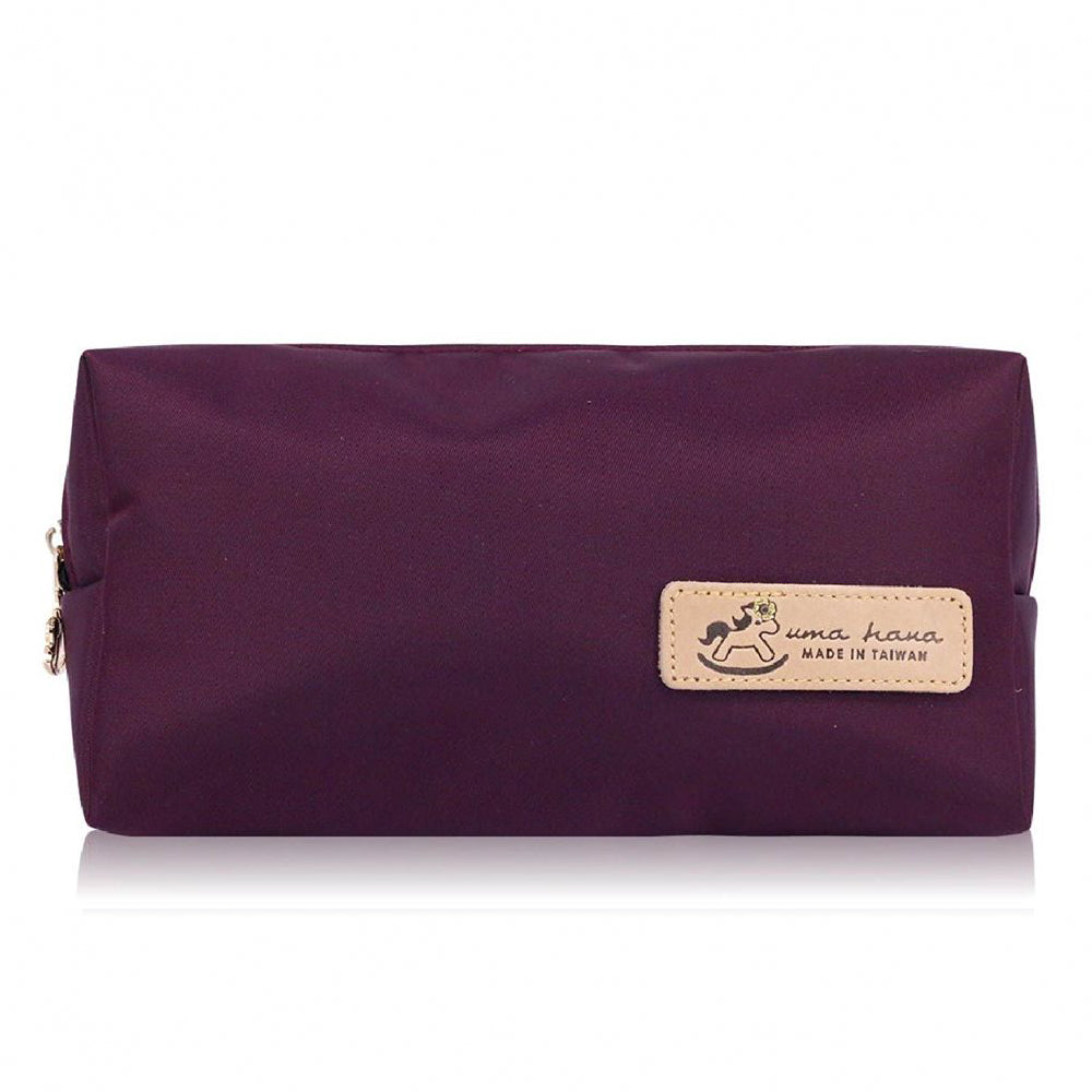 Uma hana Premium Monochrome Waterproof Rectangular Cosmetic Pouch Purple
