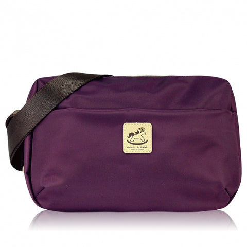Uma hana Premium Monochrome Ship Type Shoulder Bag Purple