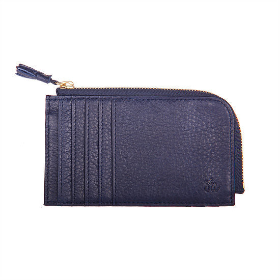 Samuel Ashley Peyton Card Case with Zip Pocket Ink