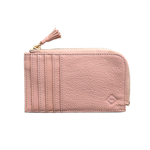 Samuel Ashley Peyton Card Case with Zip Pocket Pink