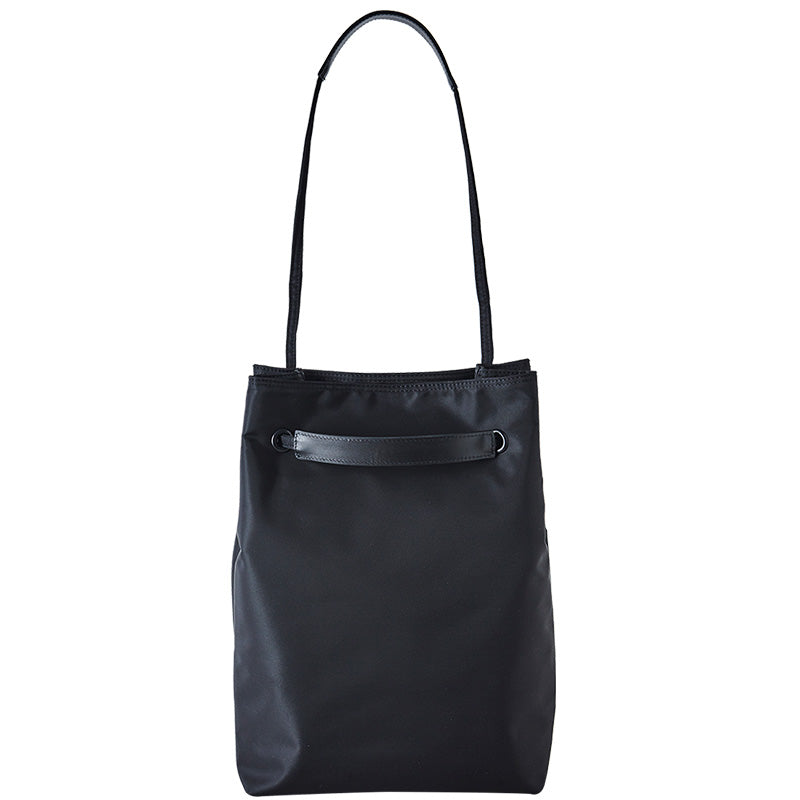 ITHINKSO Shoulder and Tote Bag Black