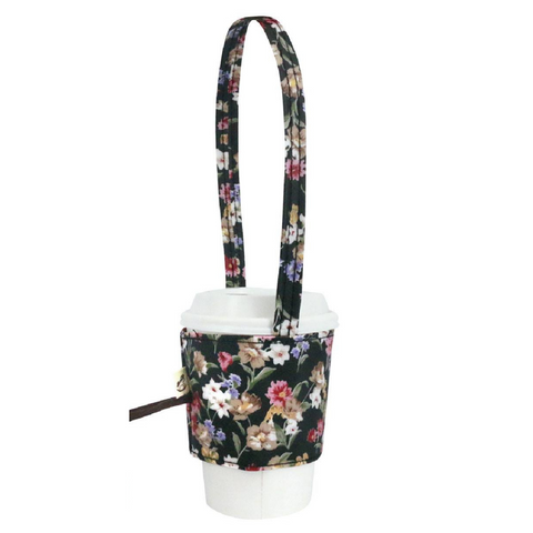 Uma hana Drink Cup Holder Small Flower Black