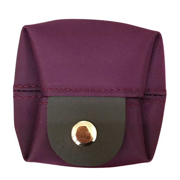 Uma hana Premium Monochrome Box Coin Purse Purple