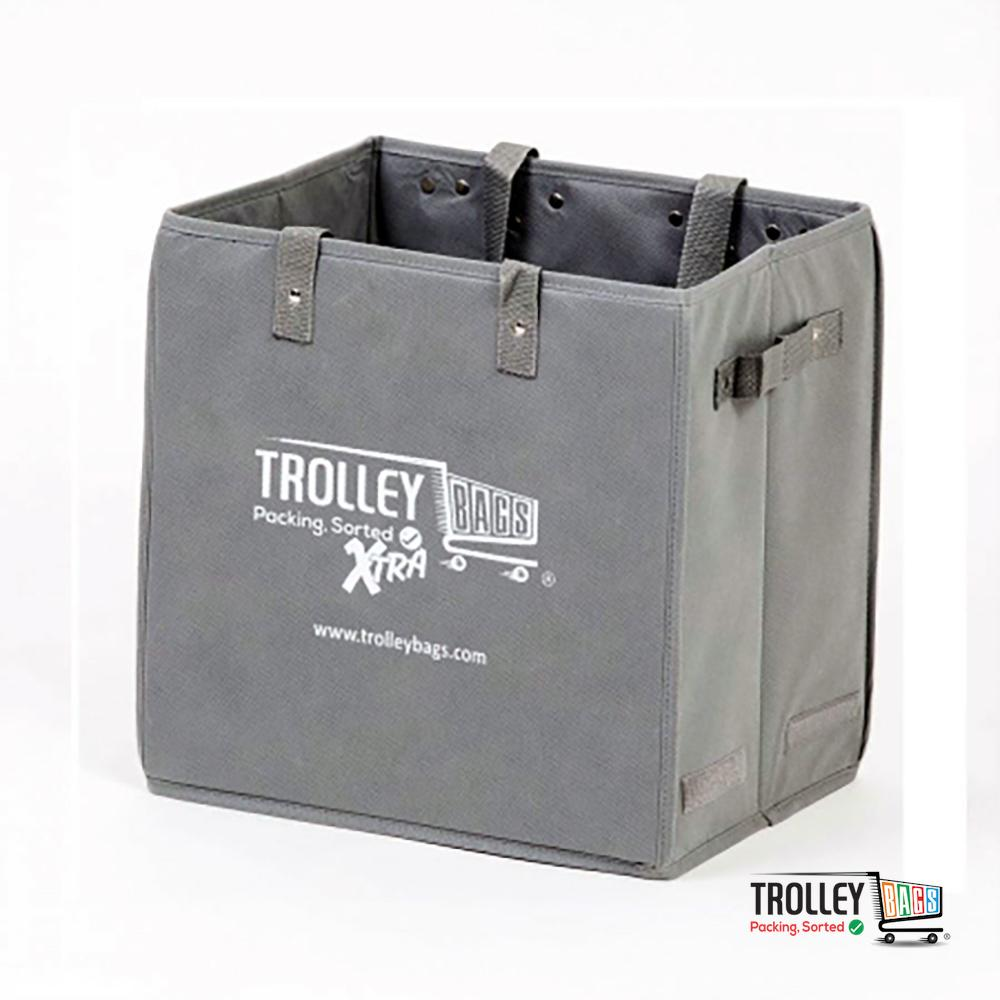 Reusable Grocery Shopping Trolley Bags Xtra Grey
