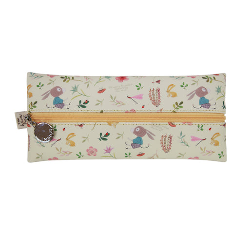 Indigo Willow V.4 Zipper Pencil Case Yellow Donkey