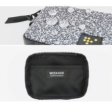 Load image into Gallery viewer, Weekade Let's Mini Wallet Navy Marble