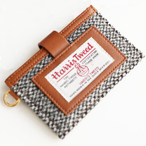 Harris Tweed Name Card Pocket Black and White