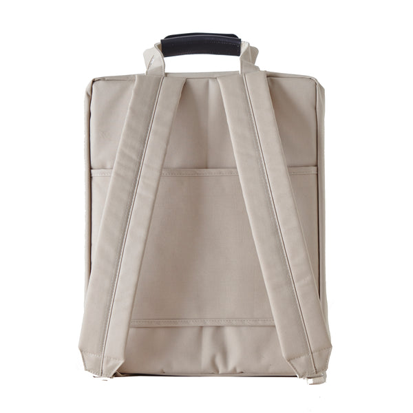 ITHINKSO Compact Trunk Backpack Light Beige
