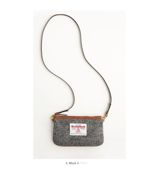 invite.L Slim Pouch Crossbody Bag Harris Tweed