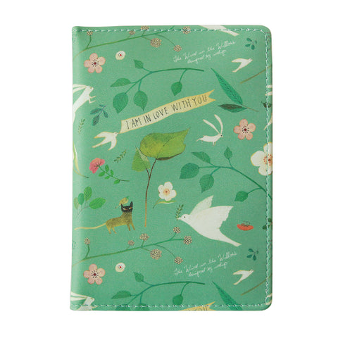 Indigo Willow Ver.4 Passport Case Mint Garden