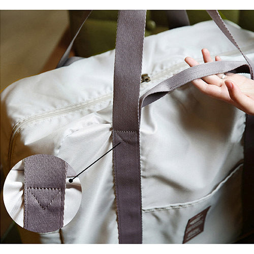 Monopoly Foldable Easy Carrying Travel Bag Shell Beige