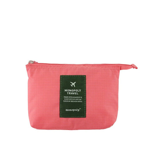 Monopoly New Mesh Pouch Small Pink