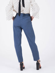 SEMICOUTURE - Pantaloni denim con coulisse
