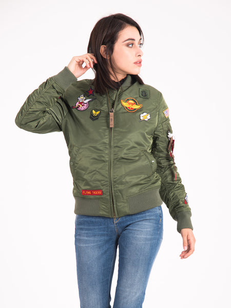 Bomber verde con patch