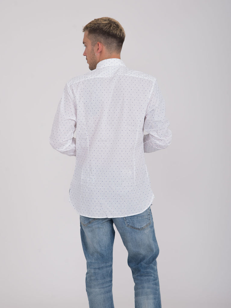 SCOTCH & SODA - Camicia bianco / blu con pallini