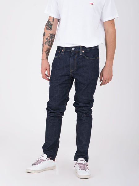 512 slim taper fit denim scuro