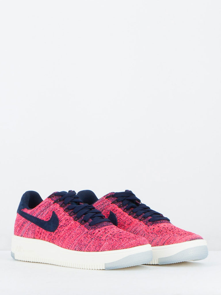 NIKE - AIR FORCE 1 FLYKNIT LOW FUXIA/BLU