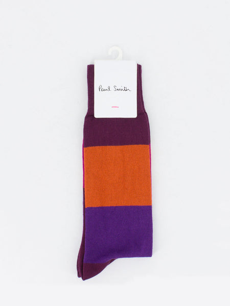 PAUL SMITH - Calzini odd stripe bordeaux/multicolor