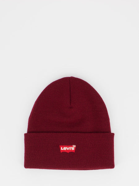 levis-beanie-mini-logo-bordeaux
