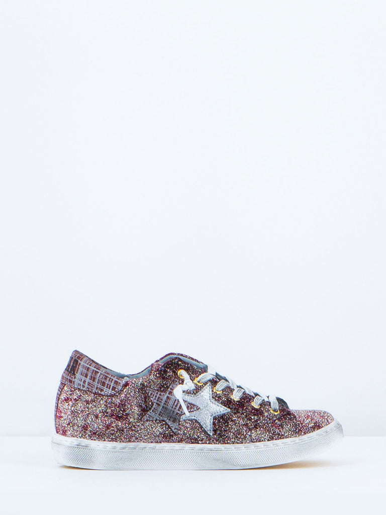 2STAR - Sneakers bordeaux/glitter