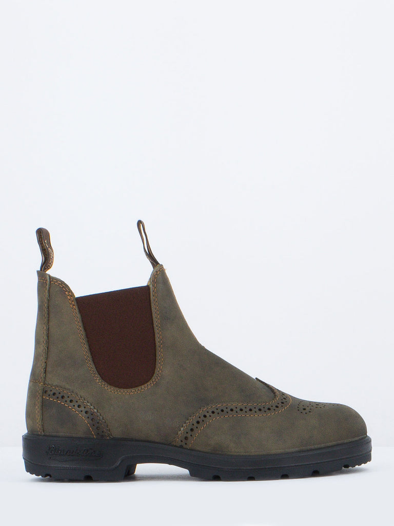 BLUNDSTONE - TRONCHETTI IN NABUK MARRONI CON BROGUE