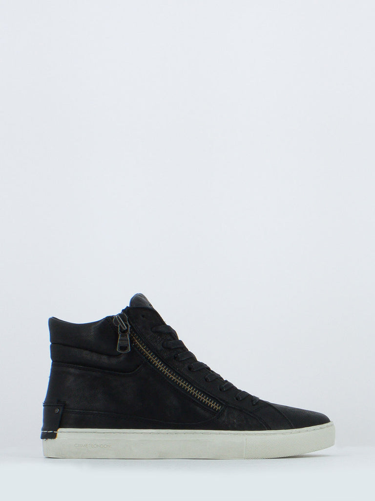 CRIME - Sneakers jason nere con zip