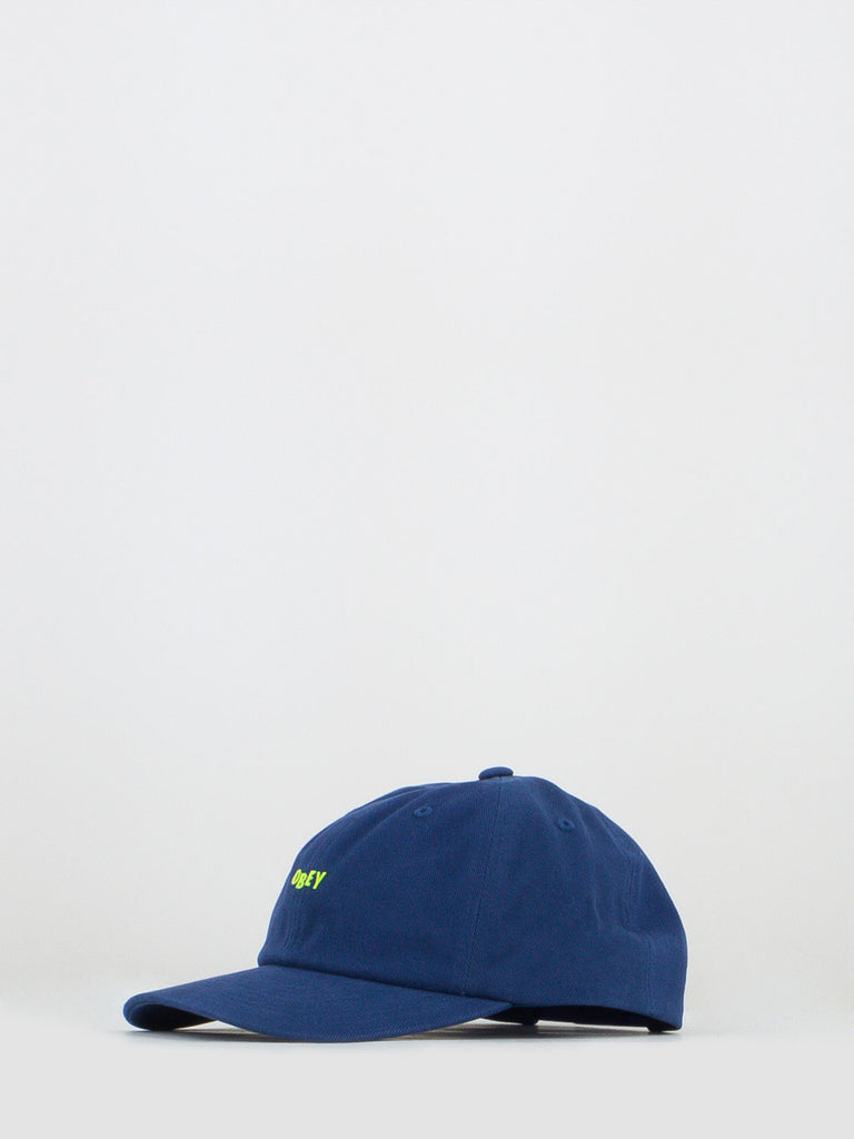 OBEY - Berretto cutty 6 panel blu